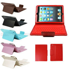 For Apple iPad Mini Stand PU Leather Case Cover With Bluetooth Keyboard 6 Colors