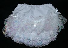 Pex Baby Girls White Frilly Pants/Knickers 0-24 Months Baby Girls Clothing