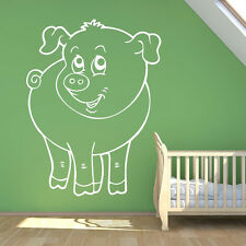 Cartoon Piglet Wall Sticker Animal Wall Decal Art