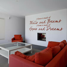 A House Is Made Of Walls And Beams Wall Sticker Home Wall Decal Art