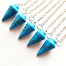 5pcs Mixed Gemstone Pendulum Pendant Bead