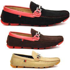 Men's Driving Shoes Black Red, Coffee, Apricot Slip Ons Casual Moccasin New