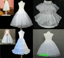 more white Flower Girl wedding pageant short kids Petticoat Crinoline Underskirt