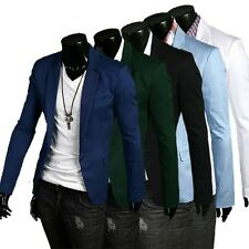 Stylish Men's Casual Slim fit One Button Suit Blazer Coat Jackets