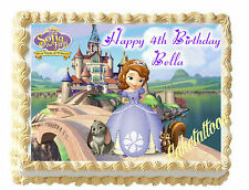 Sofia The First Princess Edible Image Sheet Cake Topper Cupcake Picture variety