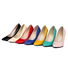 Women Fashion Synthetic Leather Stiletto High Heels Pumps Pointed Shoes SNX097