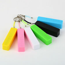 Mobile Power Bank USB 18650 Battery Charger Key Chain for iPhone  Samsung MP3  H