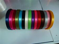 "Hot sale! Solid color (1/4"")6mm 1roll satin ribbons 25 yards/roll for wedding @"