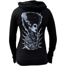 Women's Demon Love By Josh Stebbins Slub Zip Hoodie Tattooed Bride Frankenstein