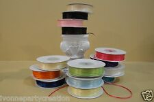 "100 YARDS DOUBLE FACE SILKY RIBBON (1/16"" WIDE) (CHOOSE FROM ANY COLORS)"