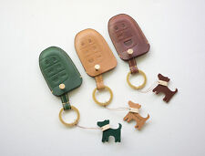 Leather smart key case fob chain cover for Jeep Grand Cherokee