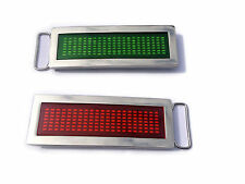 Chrome LED Scrolling Text Belt Buckle Party Disco  RED GREEN BLUE
