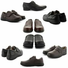 NEW MENS CASUAL COMFORT ROUND TOE PARTY OFFICE SLIP ON VELCRO FASHION SHOES UK