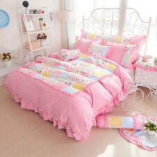 Pink Polka Dot Twin Full Queen Size Girls Ruffle Tulle Bedding