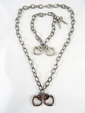 Awesome New Heart Shaped Handcuff Necklace & Bracelet #N2210-B1270