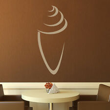 Ice Cream Cone Outline Wall Sticker Food Wall Decal Art