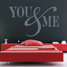 You And Me Wall Sticker Love Wall Decal Art