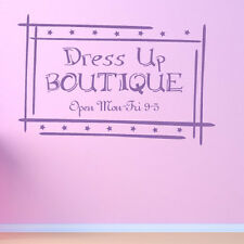Dress Up Boutique Wall Sticker Children's Play Wall Decal Art