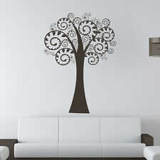 Swirl Branched Tree Wall Sticker Nature Wall Decal Art