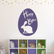Easter Bunny And Egg Seasonal Wall Art Stickers Wall Decal Art