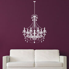 Old Fashioned Candle Chandelier Wall Sticker Decorative Wall Decal Art