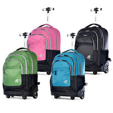 Olympia 'Gen-X' 19-inch Carry On Rolling Backpack-(Black,Blue,Plum and Green)