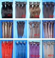 "bid here low price don't make money guarantee human hair 15""6P clip extension ca"