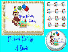 Curious George Edible Image Sheet Cake Topper Picture