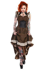 Brown Black Striped Victorian Dress banned steampunk dress edwardian