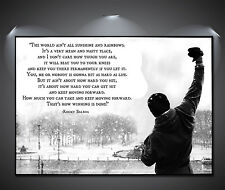Rocky Balboa Quote Vintage Large Poster - A1, A2, A3, A4 sizes