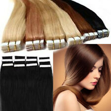 "Remy Tape Skin 100% Real Human Hair Extensions 16"" 20pcs 30g black bown blonde"