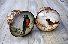 Vintage Style Bird Drawer Knobs Brown Cupboard Door Handle Pull Handles Knob