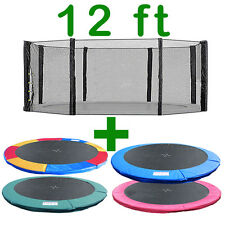 12 FT TRAMPOLINE REPLACEMENT SAFETY NET PADDING SPRING COVER PAD ENCLOSURE