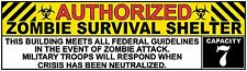 Zombie Survival Shelter Fathead-Style Repositionable Decal Sticker Walking Dead