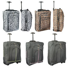EASYJET RYANAIR CABIN APPROVED BAG TRAVEL WHEELED TROLLEY HAND LUGGAGE EXPANDS