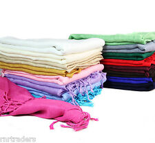 100% Viscose Plain Pashmina Scarf Stole Wrap Shawl High Quality Many Colour-pash