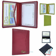 Leather Identity Id Wallet Driving Travel Train Rail Bus Oyster Card Pass Holder