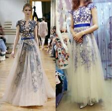 2014 Style Tulle Long Prom Bridesmaid Dresses Evening Formal Gowns SZ 6+8+10+12