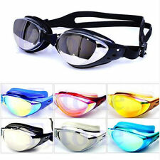 Non-Fogging Anti UV Adjustable Eye Protect Swimming Swim Goggle Glasses Adult