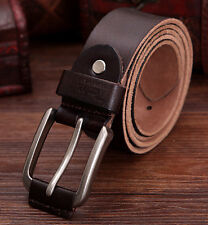 Men 100% Genuine leather Cowhide Vintage Classic Jean Pin Buckle Belts 5 Colors