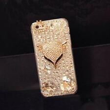 Elegant Luxury Bling Crystal Diamond Fox Gem Hard Case Cover For Various Mobiles