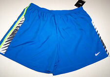 Nwt New Nike Athletic Wind Shorts Blue Lime Zebra Dri-Fit Panty Reflective Men
