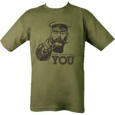 MILITARY T-SHIRT 100% COTTON WW1 KITCHENER YOUR COUNTRY NEEDS YOU MENS TOP