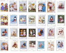 Dolls/Dolls Clothes/Bears- Knitting Patterns-Multi Listing-Teddy/ Knits & Pieces