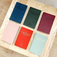 ICONIC Leather Vintage Blank Line Daily Planner Journal Diary Scheduler Essay