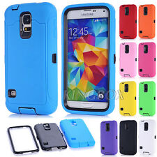 Heavy Duty Rugged 3-Piece Dual Layer Combo Case Cover For Samsung Galaxy S5 G900