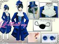 Black Butler Ciel Phantomhive Cosplay Costume Full Set Birthday Dress unisex