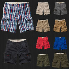 NWT Hollister HCO By Abercrombie Classic Fit At The Knee Cargo Shorts All Size