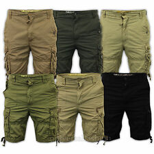 Mens Soul Star New Shorts Combat Cargo Bottoms Cotton Summer Drawcord