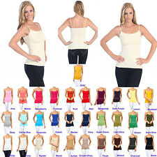 Women Spaghetti Strap Crop Pull Over Scoop Neck New Tank Top Camisole One Size